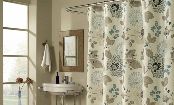Фото шторки для ванной из полиэстера №2