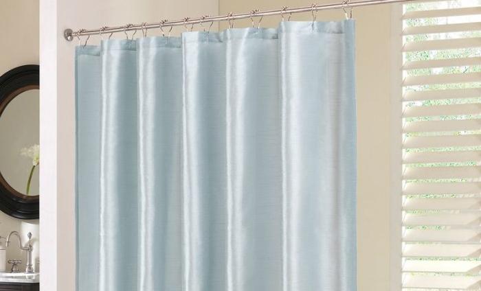 Фото шторки для ванной из полиэстера №3