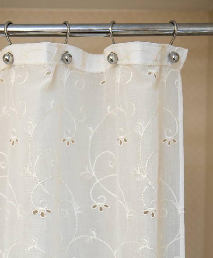 Фото тканевой шторки для ванной №1
