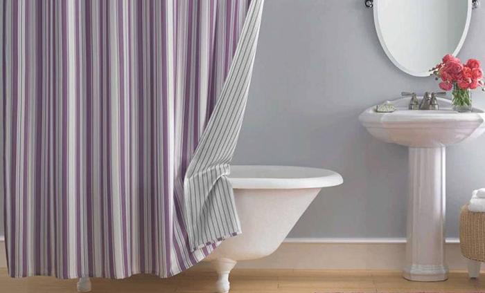 Фото тканевой шторки для ванной №2