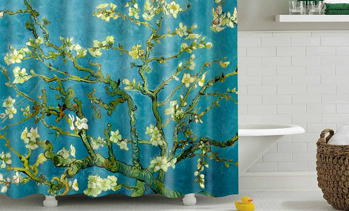 Фото тканевой шторки для ванной №3