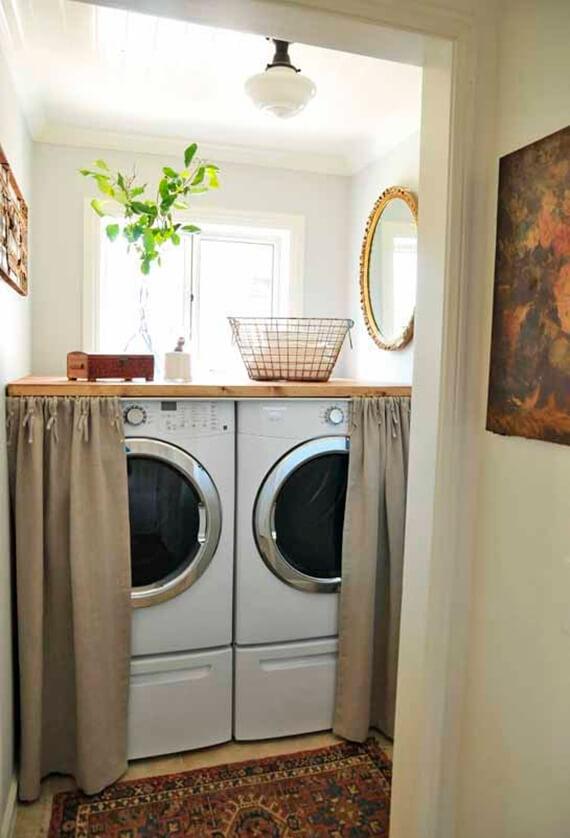 Фото: вариант скрыть стиральную машинку №1