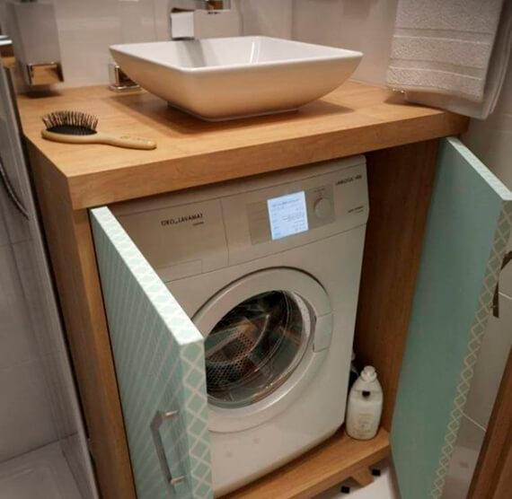 Фото: вариант скрыть стиральную машинку №2