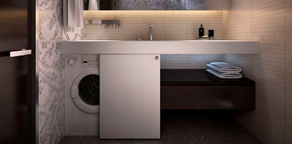 Фото: вариант скрыть стиральную машинку №3